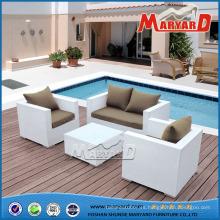 Barato 4 piezas sofá de jardín al aire libre conjunto