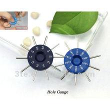 Medidor de agujero óptico de la lente, instrumento de la medida