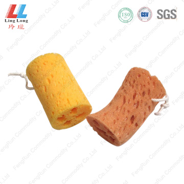 Handle loofah bath sponge