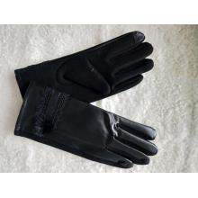 дамы с сенсорным экраном пу варежки теплая перчатка