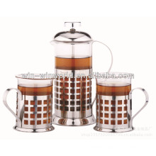 Classic Stainless Steel Glass Custom Tea Maker Set