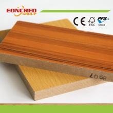 Holzmaserung High Glossy Melamin MDF für Schlafzimmer Küchenmöbel