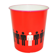 Красный открытый верхний пластиковый креативный мусорный ящик для дома (B06-871-2)