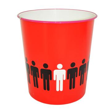 Red Open Top Boite à ordures créative en plastique pour la maison (B06-871-2)