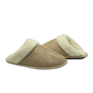 soft warm knit cable-knit house slippers for home
