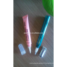 soft brush head of plastic tube