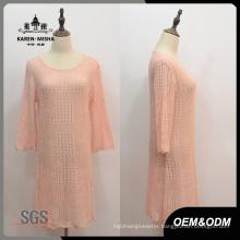 Women Loose Sleeve Hollow Dress