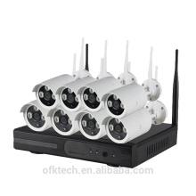kit de câmera de segurança sem fio wi-fi IP câmera NVR kit 8ch 720 p