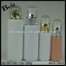 30/50/100/120/200 ml, botella de la loción del casquillo del diamante, botella cosmética de acrílico de la forma redonda