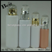 30/50/100/120/200ml,diamond cap lotion bottle,round shape acrylic cosmetic bottle