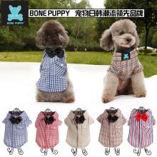 BONEPUPPY Bowtie Elengant Dog T Shirt Filhote de Cachorro Gato Camisa Polo Vestuário Roupas
