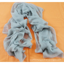 Solid Color Light Blue Cashmere Scarf