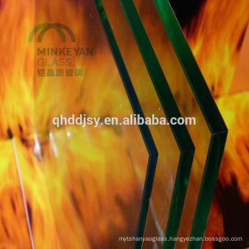 6mm 8mm 10mm 12mm 15mm 19mm Fireproof tempered Glass for fireplaces and Building
