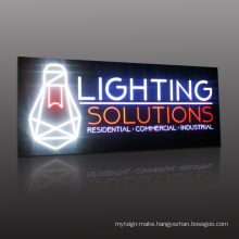 China outdoor 3d hollow-out  front lit led logo display letter illuminated sign panel light box
