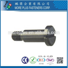 Made in Taiwan Carbon Steel DIN 923 Slotted Drive Shoulder Pan Head Screws