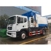 Self-load 10 cubic rubbish station restaurant garbage truck
