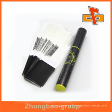 Guangzhou factory OEM plastic material customize size semi-tube film pvc shrink film for eyebrow pencil packaging