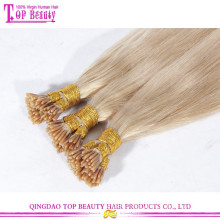 Wholesale no tangle no shedding unprocessed remy #613 blonde i tip hair keratin