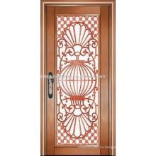Роскошные медные двери Вилла двери наружные двери однодверных KK-722