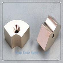 Специальные индивидуальные N42 неодимовый магнит с никелевым покрытием