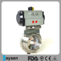 Sanitary Butterfly Valve with Aluminium Penumatic Acutator