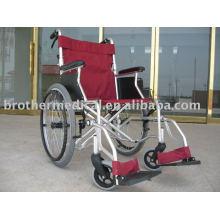 Aluminium Rollstuhl mit langen Armlehnen Doppelte Querstreben