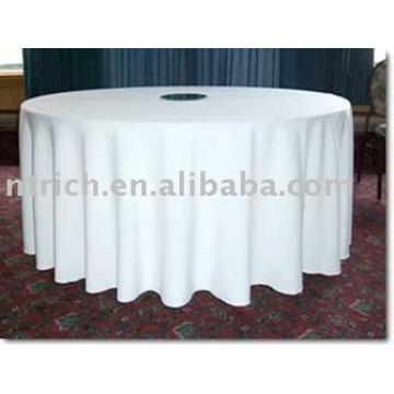 pano de tabela do poliéster, toalha de mesa de banquete, toalha de mesa de casamento