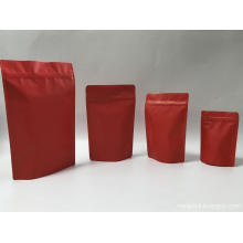 Matte Merah Stand Up Ziplock Pouch All Size