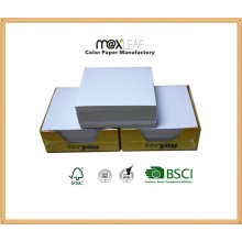 85*85*30mm White Paper Cube with Box Packing