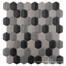 Multi color glass tile backsplash