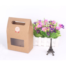 New Design Custom Kraft Paper Gift Bag with Window