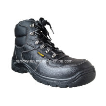 Split Embossed Leather Safety Shoes with Mesh Lining (HQ05056)