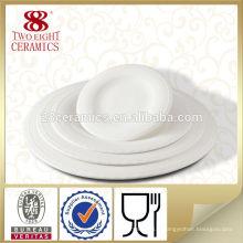 Plat en porcelaine de luxe en porcelaine ethnique plat rond pour hôtel
