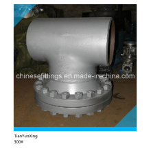 Butt Weld 300# Carbon Steel Tee Type Strainer Valve