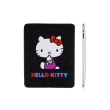 Black Hello Kitty Ipad Silicone Rubber Cover, Excellent, Flexibility And Anti Compressive