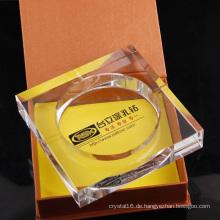 Großhandelsquadratischer Kristallglasaschenbecher als Geschäfts-Geschenk