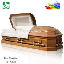 Melhor qualidade clássica sólida madeira personalizado caixão para venda