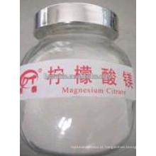 Suplemento alimentar Citrato de magnésio Food Grade Pharma Grade
