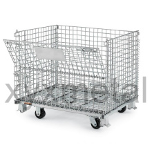 Galvanized Warehouse Storage Collapsible Wire Mesh Containers
