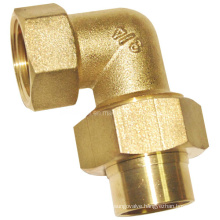 Natural Color Screw Fitting - Elbow with Extention M/F (a. 0349)