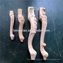 Peças de mobiliário unpainted móveis de madeira pernas sofá pé