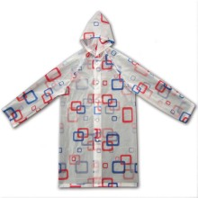 Newest Design Waterproof PVC Children Raincoat with Hood