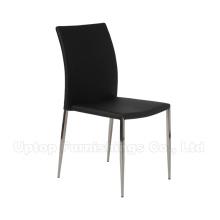 Guangdong Contract Restaurant Muebles de cuero negro metal comedor silla (SP-LC224)