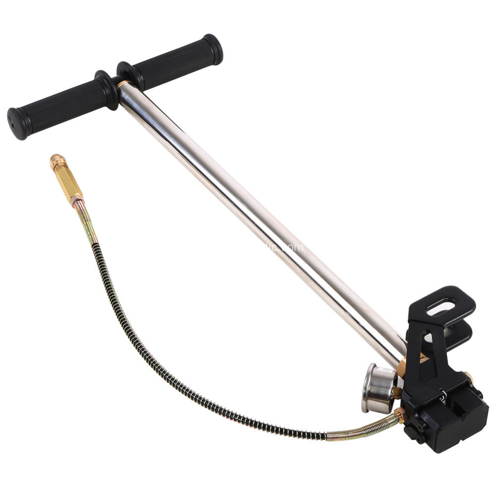 Pcp charging bottle hand pump shooting sled