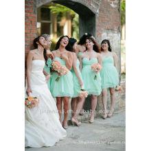 Light Blue A-line Knee Length Sweetheart Plus Size Chiffon Bridesmaids Dresses DB081