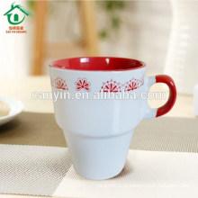 2015 Copo espresso esmaltado de porcelana de temperatura média