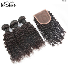 Popular Hot Sale Mongolian Kinky Curl Hair Bundle With Closure Wholesale Factory Manufacturer