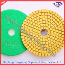 4 '' Flexible Dry abrasif diamant polissage Pad (HXDRY)