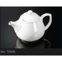 ceramic porcelain tea kettle for hotel T0006