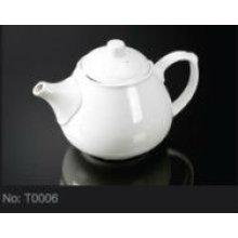 Фарфоровый чайный чайник для гостиницы T0006